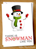 There Is Snowman Like You ~ Husband Wife Love Couple Cute