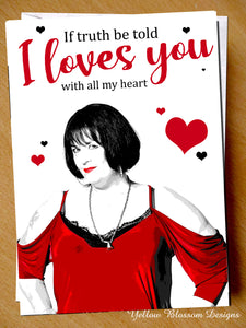 Valentines Day Birthday Anniversary Card Nessa I Loves You Gavin & Stacey Heart