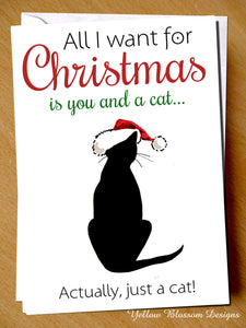 Cat Animal Pet Christmas Card