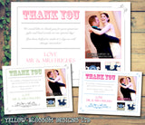 Carnival Shabby Chic Photo Personalised Wedding Thank You Cards ~ QUANTITY DISCOUNT AVAILABLE - YellowBlossomDesignsLtd