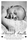 Fantasy Clouds New Born Baby Birth Announcement Photo Cards Personalised Bespoke ~ QUANTITY DISCOUNT AVAILABLE