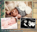 Personalised Baby Announcement Photo Thank You Cards ~ Twins Boy Girl