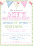 Adult Birthday Invitations Female Male Unisex Joint Party Her Him For Her - Orange Purple Green Blue Pink  ~ QUANTITY DISCOUNT AVAILABLE - YellowBlossomDesignsLtd