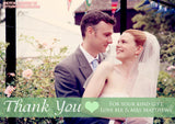 Landscape Heart Full Photo Personalised Wedding Thank You Cards ~ QUANTITY DISCOUNT AVAILABLE