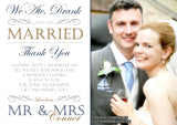 We Ate Drank And Got Married Photo Personalised Wedding Thank You Cards ~ QUANTITY DISCOUNT AVAILABLE