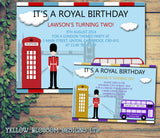 Royal London Joint Boy Girl Party Invitations - Children's Kids Child Birthday Invites Boy Girl Joint Party Twins Unisex Printed ~ QUANTITY DISCOUNT AVAILABLE
