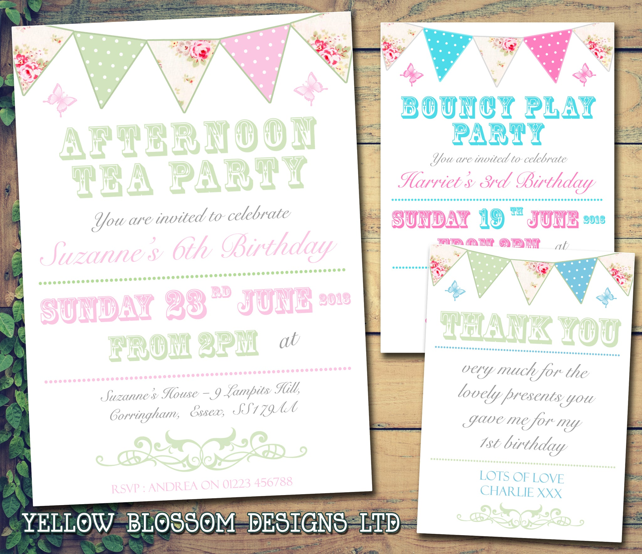 Shabby Chic Afternoon Tea Party Invitations