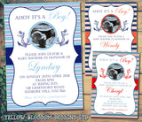 Baby Shower Invitations Boy Girl Unisex Twins Joint Party - Ahoy It's A Boy Nautical ~ QUANTITY DISCOUNT AVAILABLE - YellowBlossomDesignsLtd