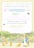Baby Shower Invitations Boy Girl Unisex Twins Joint Party - Jemima Puddleduck Beatrix Potter Peter Rabbit ~ QUANTITY DISCOUNT AVAILABLE - YellowBlossomDesignsLtd