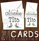 As It's Christmas I'm Going To Show You My Tits Greeting Card ~ Funny Naughty Witty
