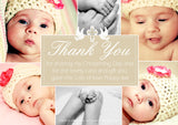 Elegant Joint Boy Girl Twins Montage Multi Photo Personalised Thank You Cards