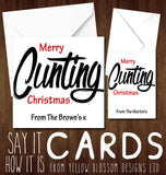 PERSONALISED Merry Christmas Fucking Cunting Bloody Greeting Card