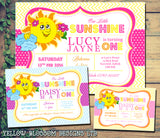 You Are My Sunshine Party Invitations - Boy Girl Unisex Joint Birthday Invites Boy Girl Joint Party Twins Unisex Printed