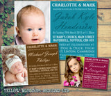 Beautiful Photo Invites - Christening Invitations Joint Boy Girl Unisex Twins Baptism Naming Day Ceremony Celebration Party ~ QUANTITY DISCOUNT AVAILABLE - YellowBlossomDesignsLtd