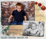 Full Photo Thanks Personalised Folded Flat Christmas Thank You Photo Cards Family Child Kids ~ QUANTITY DISCOUNT AVAILABLE