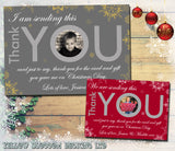 Elegant Boy Girl Personalised Folded Flat Christmas Thank You Photo Cards Family Child Kids ~ QUANTITY DISCOUNT AVAILABLE