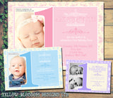 First 1st ONE Pink Blue Baby Invitations - Children's Kids Child Birthday Invites Joint Party Unisex Printed ~ QUANTITY DISCOUNT AVAILABLE