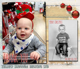 Boys Girls Personalised Folded Flat Christmas Thank You Photo Cards Family Child Kids ~ QUANTITY DISCOUNT AVAILABLE