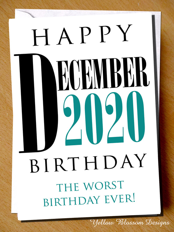 Funny Virus December Birthday Card Worst Wife Husband Boyfriend Girlfriend Joke 19 Happy April 2020 Birthday The Worst Birthday Ever Lockdown Isolation Friend Mum Dad Sister Brother …