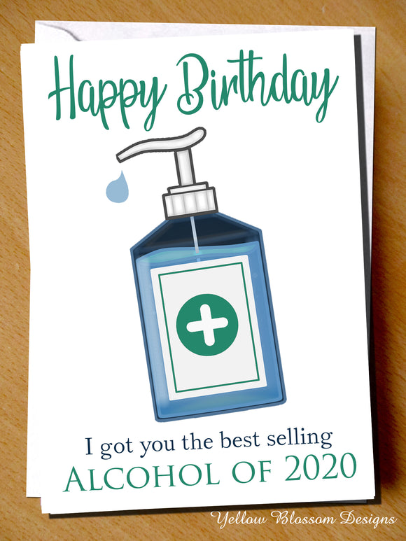 Funny Birthday Card Lockdown Dad Mum Brother Sister Son Daughter Him Her Best Selling Alcohol Of 2020 Friend Husband Wife Comical Joke Boyfriend Girlfriend Virus 2020 2021 19 …