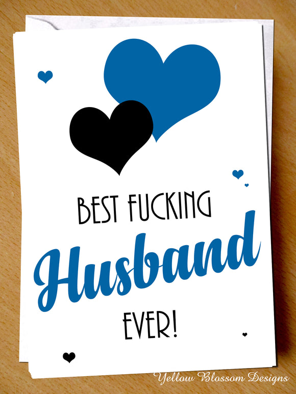 Birthday Greeting Card Funny For Him Best Husband Christmas Love Valentines Day