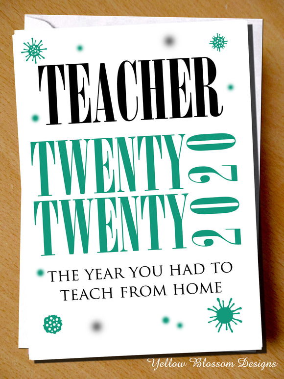 Teacher Thank You Card Mr Mrs Miss Teaching Assistant Nursery Childminder 2020