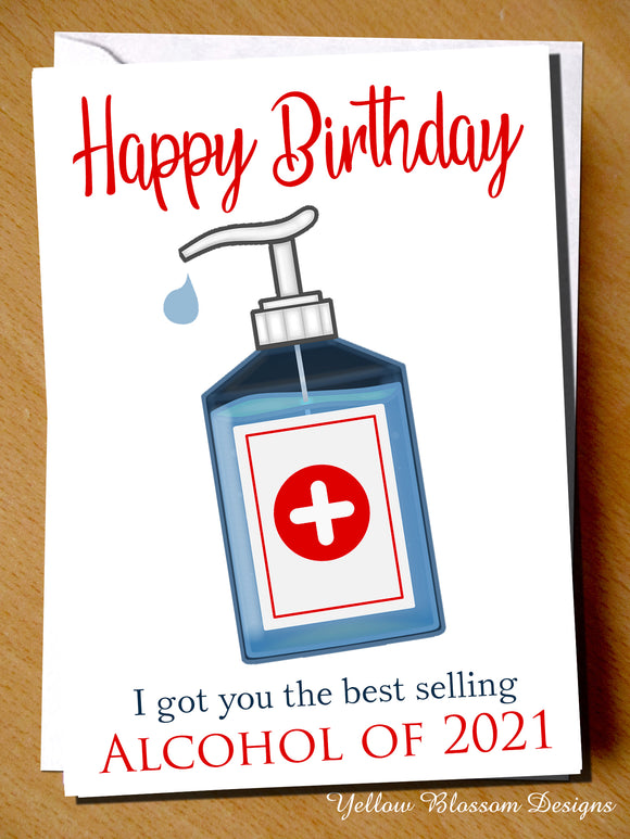 Funny Birthday Card Lockdown Dad Mum Brother Sister Son Daughter Him Her Best Selling Alcohol Of 2021 Friend Husband Wife Comical Joke Boyfriend Girlfriend …