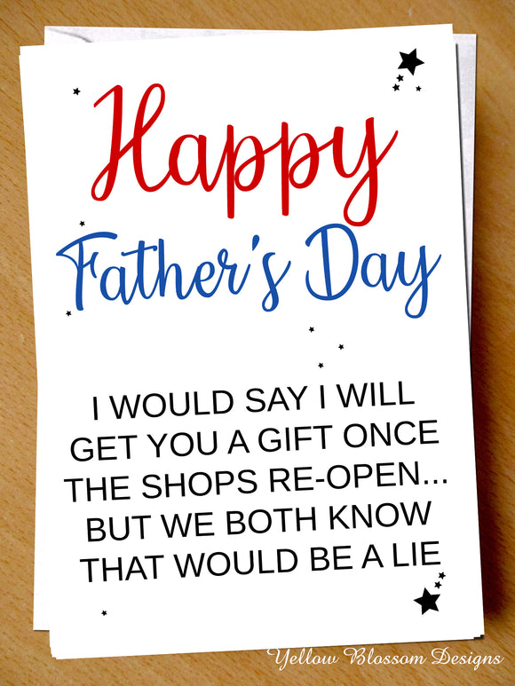Funny Fathers Day Card Dad Virus 19 Isolation Lockdown Gift Joke Son Daughter