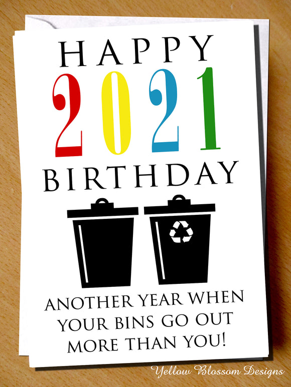 Funny Christmas Card Mum Dad Friend Sister Brother Husband Wife Boyfriend Girlfriend Virus 19 Lockdown Isolation Quarantine 2021 Another Year When Your Bins Go Out More Than You …