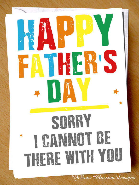 Fathers Day Card Sorry Dad Virus 19 Lockdown From Son Daughter Missing You Love