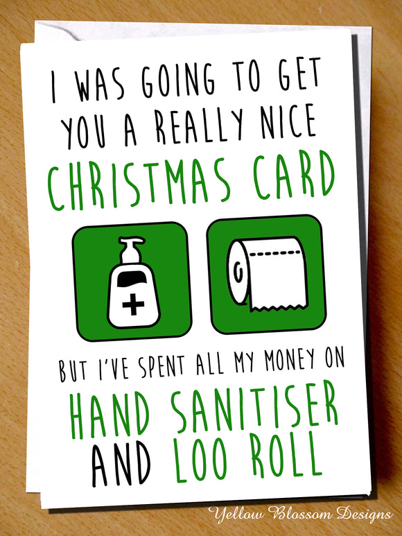 Funny Christmas Card Friend Sister Daughter Mum Dad Brother Son Husband Wife Fiance Girlfriend Boyfriend Nan Grandad Cornavirus Lockdown Joke Witty Comical Gift Covid 19 …