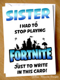 Fortnite Birthday Card Stop Playing ~ Dad Mum Stepdad Brother Grandad Nanny Sister