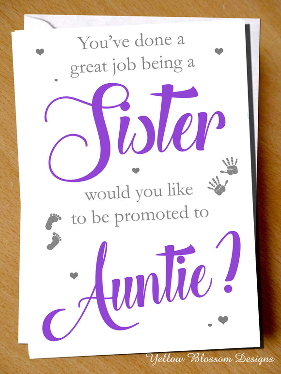 You've Done A Great Job Being A Sister ~ Promoted To Auntie ~ Pregnancy Announcement