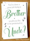 You've Done A Great Job Being A Friend ~ Promoted To Uncle ~ Pregnancy Announcement