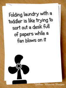 Folding Laundry With A Toddler Card