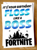Floss Like A Boss Birthday Card