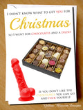 Rude & Funny Christmas Greetings Card ~ Xmas