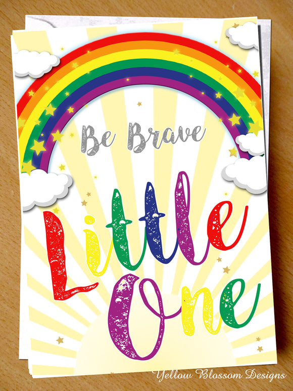 Be Brave Little One Premature Baby Greetings Card Preemie NICU New Born Miracle Support SCBU Love