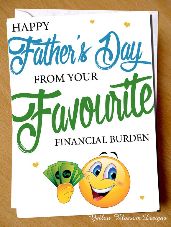 Financial Burden Funny Card