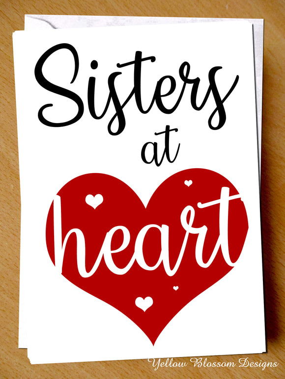Sisters At Heart Card Best Friend Happy Birthday Greeting
