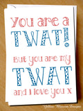 You Are A Twat! But You Are My Twat And I Love You x
