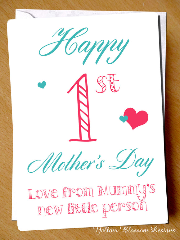Happy 1st Mother's Day Card