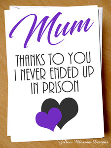 Mum Thanks To You I Never Ended Up In Prison