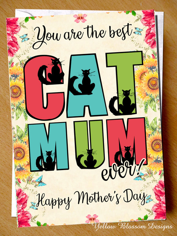 Copy of Best Cat Mum Ever! Card