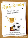 Football Birthday Card Funny