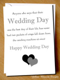 Anyone Who Says That Their Wedding Day Was The Best Day Of Their Life Has Never Had Two Packets Of Crisps Fall From A Vending Machine - YellowBlossomDesignsLtd