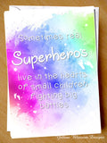 Superheros Premature Baby Greetings Card Preemie NICU New Born Miracle Support SCBU Love