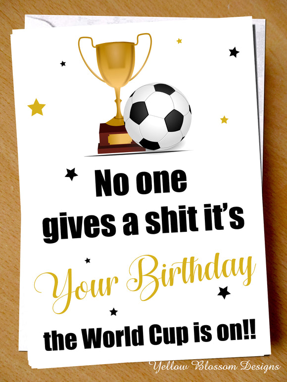 World Cup Birthday Card Funny