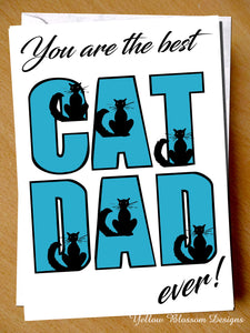 Best Cat Dad Card