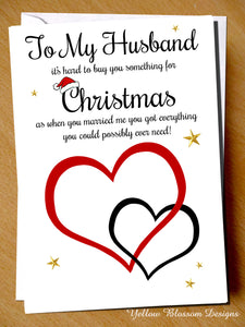Funny Christmas Card Husband Joke From The Wife Love Couple Partner Comical Fun